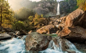 Picture Nature, Waterfall, Rocks, River, Stones, Landscape