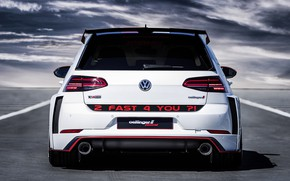 Picture Volkswagen, rear view, Golf, GTI, 2018, Oettinger, TCR, Germany Street