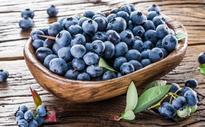 Picture berries, blueberries, basket, fresh, wood, blueberry, berries