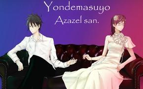 Picture anime, art, two, Come Forth Azazel, Yondemasuyo azazel-san