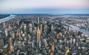 Wallpaper the city, panorama, megapolis, New York