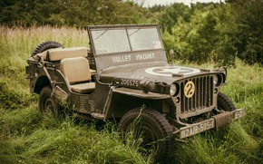 Picture the front, army, Willys MB