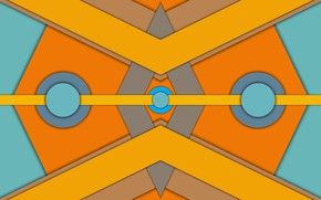 Picture circles, triangles, figure, symmetry