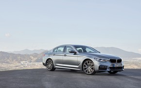 Picture the sky, mountains, grey, BMW, sedan, Playground, 540i, 5, M Sport, four-door, 2017, 5-series, G30