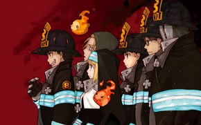 Picture anime, art, guys, Fire Brigade Of Flames!