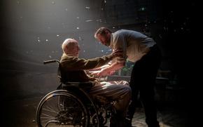 Picture Logan, friends, Logan, Hugh Jackman, Wolverine, Patrick Stewart, Professor Xavier