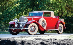 Picture auto, red, retro, Roadster, Coupe, Packard, Eight