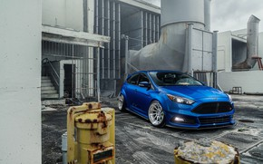 Picture blue, design, background, Ford Focus