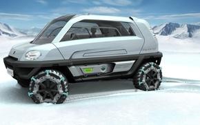 Picture Concept, snowmobile, MILA, Magna Steyr, Alpin