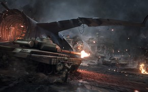 Picture night, war, the game, soldiers, ruins, the plane, World War 3