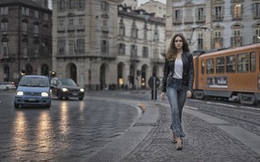 Picture look, the city, style, street, model, jacket, Clear