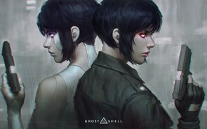 Picture weapons, guns, art, Ghost in the shell, Ghost in the Shell, The Major