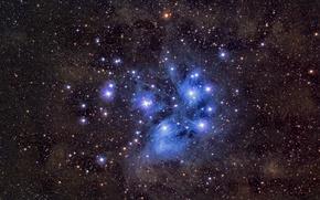 Wallpaper stars, space, M45, Pleiades