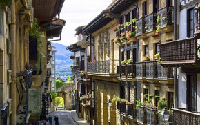 Picture Spain, old town, Hondarribia, Guipúzcoa