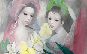 Picture Modern, Marie Laurencin, Two girls with flowers