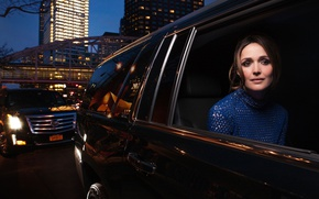 Picture actress, brown hair, beauty, car, photoshoot, Rose Byrne, Rose Byrne, Vanity Fair, for the film, ...