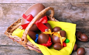 Picture chocolate, Easter, chocolate eggs
