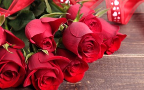 Wallpaper red roses, heart, love, roses, valentine's day, romantic, bouquet, red