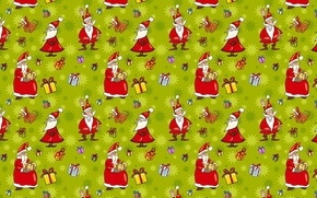 Picture mood, holiday, kindness, humor, art, gifts, New year, Santa Claus, cartoon, fun.