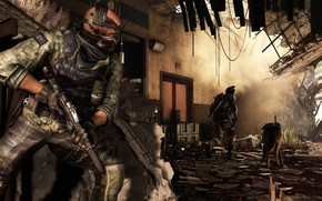 Picture gun, Call of Duty, weapon, dog, rifle, bald, Call of Duty: Ghosts, Call of Duty …