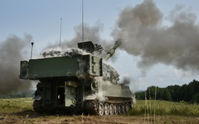 Picture weapons, army, M109A6 Paladin