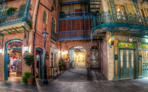Picture Home, The evening, The city, CA, Park, USA, Disneyland, Anaheim