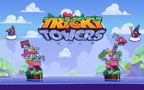 Picture game, tetris, TrickyTowers
