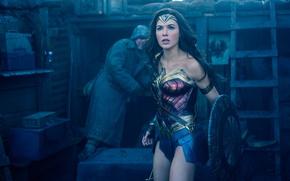 Wallpaper cinema, girl, Wonder Woman, demigod, armor, woman, movie, brunette, hero, film, shield, god, yuusha, Gal ...
