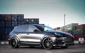 Picture Porsche, Black, Cayenne