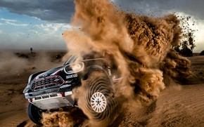 Wallpaper X-Raid, MINI John Cooper Works, X Raid, Desert, X-Raid Team, Race, Rally, SUV, Dakar, Mini, ...