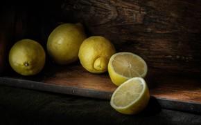 Wallpaper citrus, lemons, halves