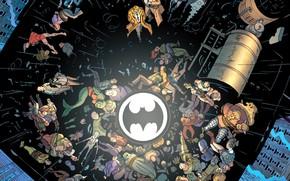 Picture Rain, Cops, Roof, Bat, Comic, Police, Spotlight, Police, Rain, Symbol, DC Comics, Batman and Robin, …