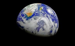 Wallpaper cyclone, planet, hurricane, clouds, Earth