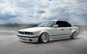Picture tuning, bmw, BMW, white, white, tuning, stance, e34, E34