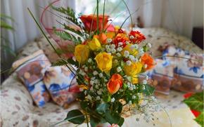 Picture Room, Bouquet, Roses, Roses, Bouquet
