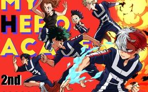 Picture anime, art, heroes, characters, Boku no Hero Academy, My hero Academy