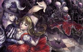 Picture dance, bones, mirror, Dragon's Crown