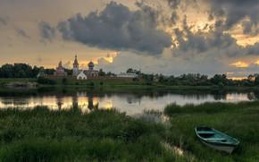 Picture Staraya Ladoga, Leningrad oblast, the river Volkhov