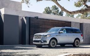 Picture Lincoln, Car, 2018, Silver, Navigator