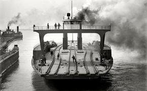 Picture retro, ship, USA, ferry