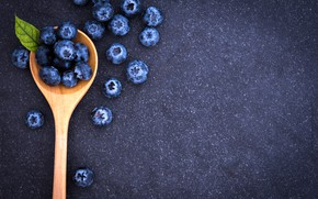 Picture berries, blueberries, spoon, fresh, spoon, blueberry, blueberries, berries