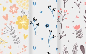 Picture texture, pattern, Colourful, floral
