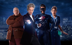 Picture the sky, the city, home, Doctor Who, superhero, Doctor Who, Peter Capaldi, The Twelfth Doctor, …