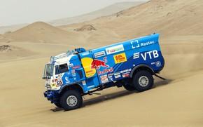 Picture Speed, Truck, Race, Master, Russia, Kamaz, Rally, Dakar, KAMAZ-master, Dakar, Rally, KAMAZ, The roads, RedBull, …