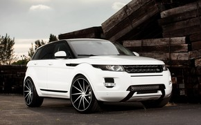 Picture Land Rover, with, color, Evoque, exterior, painted, gloss, trim, matched