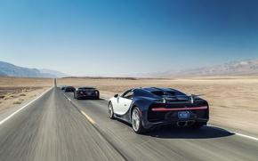 Wallpaper car, Bugatti, supercar, desert, race, speed, sand, asphalt, suna, sabaku, Chiron, Bugatti Chiron, Bugatti Chiron ...