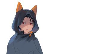Picture anime, art, hood, guy, cloak, Subaru, Re: Zero kara hajime chip isek or Seikatsu, From …