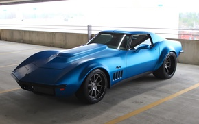 Picture Corvette, Chevrolet, 1969, Stingray, Wheels, Concave, Forgeline, GA3C