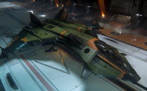 Picture background, starship, Star Citizen, Gladius