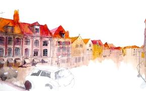 Wallpaper the city, figure, home
